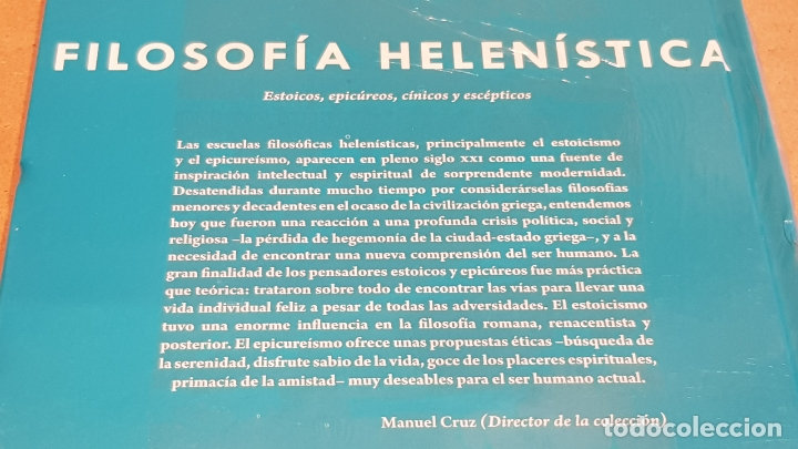 Libros: FILOSOFÍA HELENÍSTICA.ESTOICOS,EPICÚREOS... / J.A.CARDONA / DESCUBRIR LA FILOSOFÍA / 22 / PRECINTADO - Foto 2 - 172635100