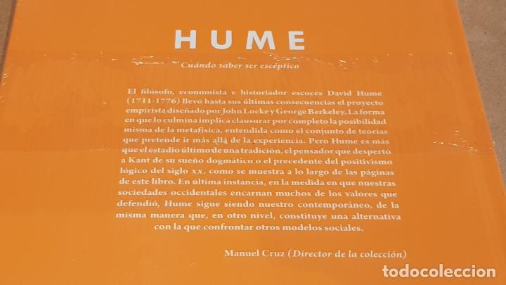 Libros: HUME. CUÁNDO SABER SER ESCÉPTICO. GERARDO LÓPEZ / DESCUBRIR LA FILOSOFÍA / 16 / PRECINTADO - Foto 2 - 172635332