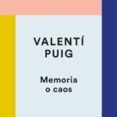 Libros: MEMORIA O CAOS. Lote 178448192