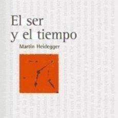 Libros: EL SER Y EL TIEMPO. Lote 178655652