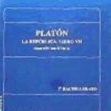 Libros: PLATÓN. LIBRO VII DE LA REPÚBLICA. Lote 178721100