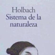 Libros: SISTEMA DE LA NATURALEZA. Lote 179132695