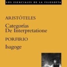 Libros: CATEGORIAS; DE INTERPRETATIONE; ISAGOGE. Lote 179156648