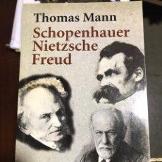 Libros: SCHOPENHAUER NIETZSCHE FREUD THOMAS MANN. Lote 183556235
