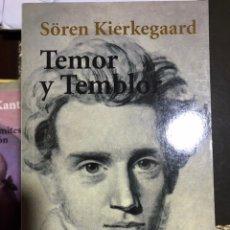 Libros: TEMOR Y TEMBLOR SOREN KIERKEGAARD. Lote 183557557