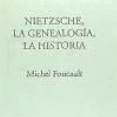 Libros: NIETZSCHE, LA GENEALOGÍA, LA HISTORIA. Lote 186393693
