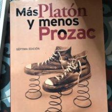 Libros: MAS PLATON Y MENOS PROZAC LOU MARINOFF SINE QUA NON. Lote 191065263