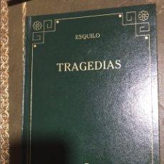 Libros: TRAGEDIAS ESQUILO. Lote 191078752