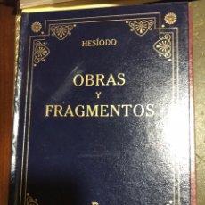 Libros: OBRAS Y FRAGMENTOS HESIODO. Lote 191078368