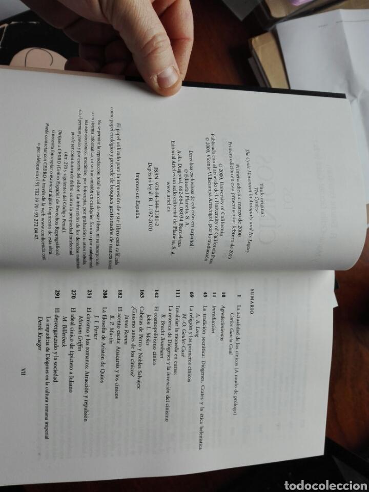 Libros: Los cínicos. Branham y goulet-caze EDS. Prólogo de García Gual. Filosofía. Ariel. 2020 - Foto 3 - 255470690