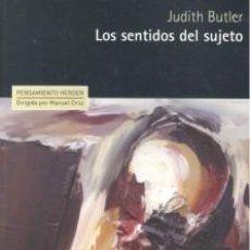 Libros: LOS SENTIDOS DEL SUJETO JUDITH BUTLER. Lote 194520015