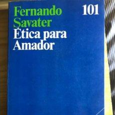 Libros: ETICA PARA AMADOR,FERNANDO SABATÉ. Lote 195175423