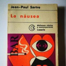 Libros: LA NAUSEA. JEAN PAUL SARTRE. Lote 198829511