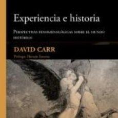 Libros: EXPERIENCIA E HISTORIA. Lote 204988726