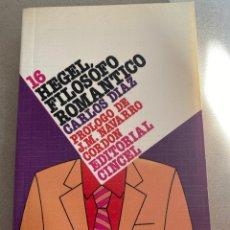 Libros: HEGEL, CARLOS DIAZ. Lote 205566675