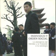 Libros: ANDRÉS BILBAO - INDIVIDUO Y ORDEN SOCIAL. Lote 207166642