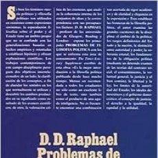 Libros: D. D. RAPHAEL - PROBLEMAS DE FILOSOFÍA POLÍTICA. Lote 207376715