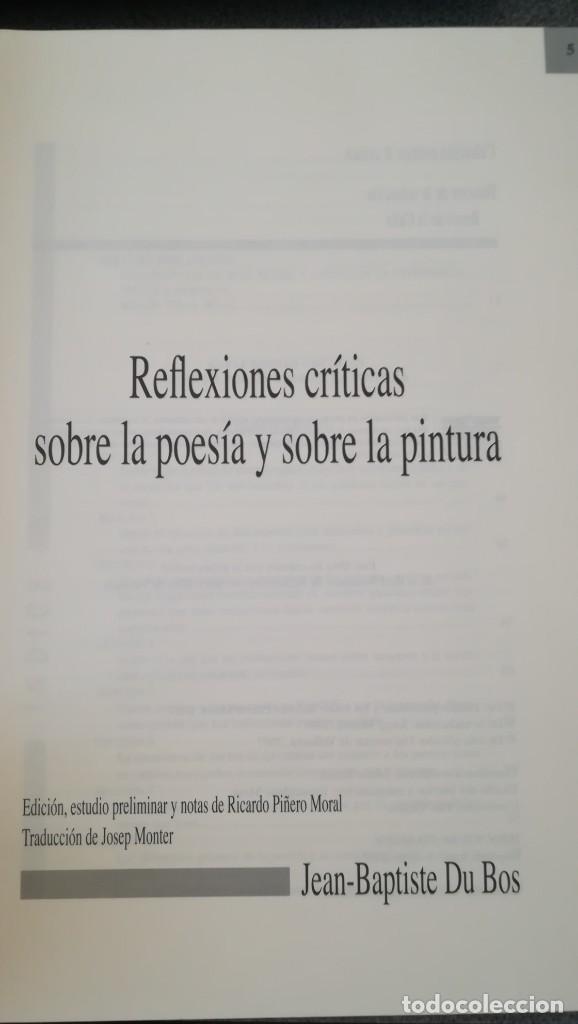 Libros: Reflexiones críticas sobre la poesía y sobre la pintura. Jean-Baptiste Du Bois - Foto 2 - 210453310