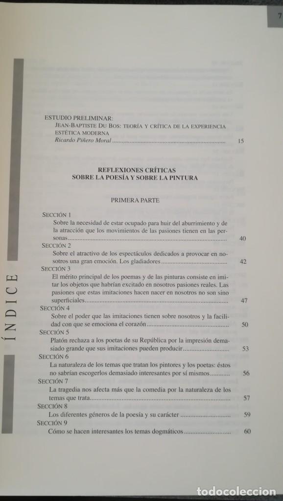 Libros: Reflexiones críticas sobre la poesía y sobre la pintura. Jean-Baptiste Du Bois - Foto 4 - 210453310