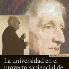 Libros: LA UNIVERSIDAD EN EL PROYECTO SAPIENCIAL DE ALASDAIR MACINTYRE (J.M. GIMÉNEZ AMAYA) EUNSA 2020. Lote 210666000