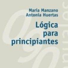 Libros: LÓGICA PARA PRINCIPIANTES. Lote 211642704