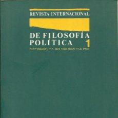 Libros: REVISTA INTERNACIONAL DE FILOSOFÍA POLÍTICA - Nº 1 (1993). Lote 214198176