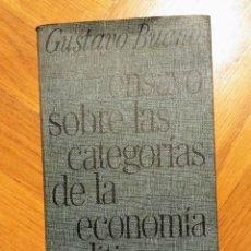 Libros: ENSAYO SOBRE LAS CATEGORÍAS DE LA ECONOMÍA POLÍTICA - GUSTAVO BUENO. Lote 215848896