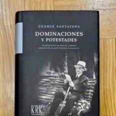 Libros: DOMINACIONES Y POTESTADES - GEORGE SANTAYANA. Lote 215852222