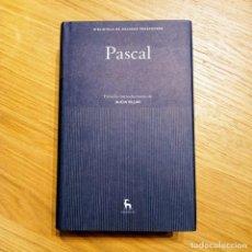 Libri: PASCAL (GRANDES PENSADORES) - GREDOS. Lote 217062436