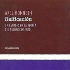 Libros: REIFICACIÓN. Lote 217683427