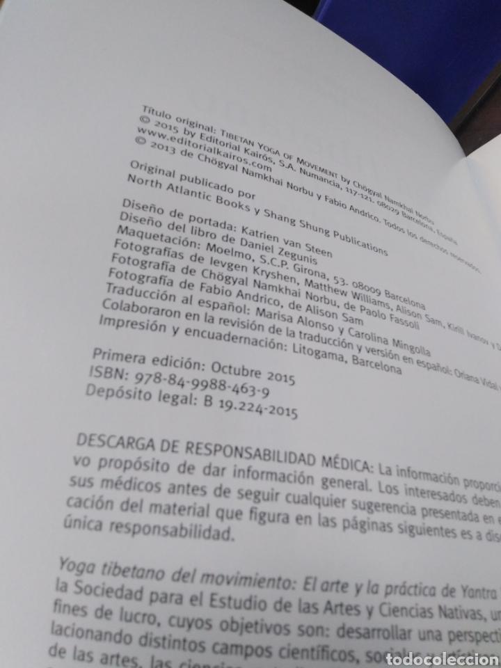 Libros: YOGA TIBETANO DEL MOVIMIENTO-EL ARTE Y LA PRÁCTICA DEL YANTRA YOGA-CHOGYAL NAMKHAI NORBU,KAIROS,2015 - Foto 5 - 218805470