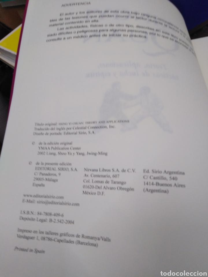 Libros: XINGYI QUAN-TEORÍA,APLICACIONES,TÁCTICA DE LUCHA Y ESPÍRITU,MAESTRO LIANG SHOU-YI,EDITA SIRIO,2004, - Foto 5 - 218816036