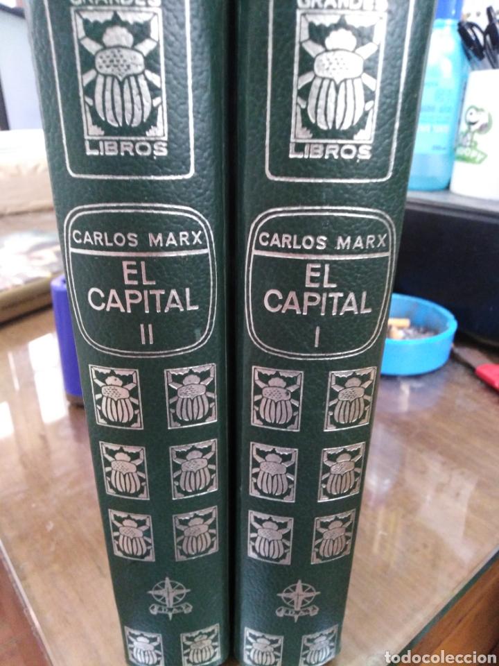 Libros: EL CAPITAL-CARLOS MARX-2 TOMOS COMPLETO,EDITA E.D.A.F-CUÑO DE ANTIGUO PROPIETARIO,PAPEL BIBLIA, - Foto 2 - 218969526