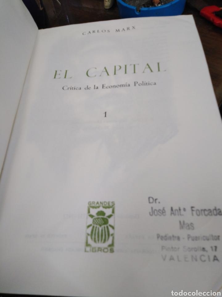 Libros: EL CAPITAL-CARLOS MARX-2 TOMOS COMPLETO,EDITA E.D.A.F-CUÑO DE ANTIGUO PROPIETARIO,PAPEL BIBLIA, - Foto 6 - 218969526