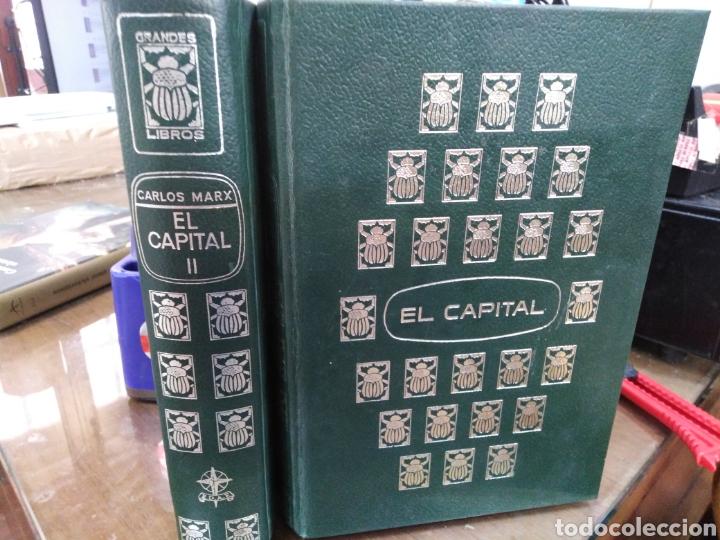 EL CAPITAL-CARLOS MARX-2 TOMOS COMPLETO,EDITA E.D.A.F-CUÑO DE ANTIGUO PROPIETARIO,PAPEL BIBLIA, (Libros Nuevos - Humanidades - Filosofía)