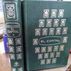 Libros: EL CAPITAL-CARLOS MARX-2 TOMOS COMPLETO,EDITA E.D.A.F-CUÑO DE ANTIGUO PROPIETARIO,PAPEL BIBLIA,. Lote 218969526