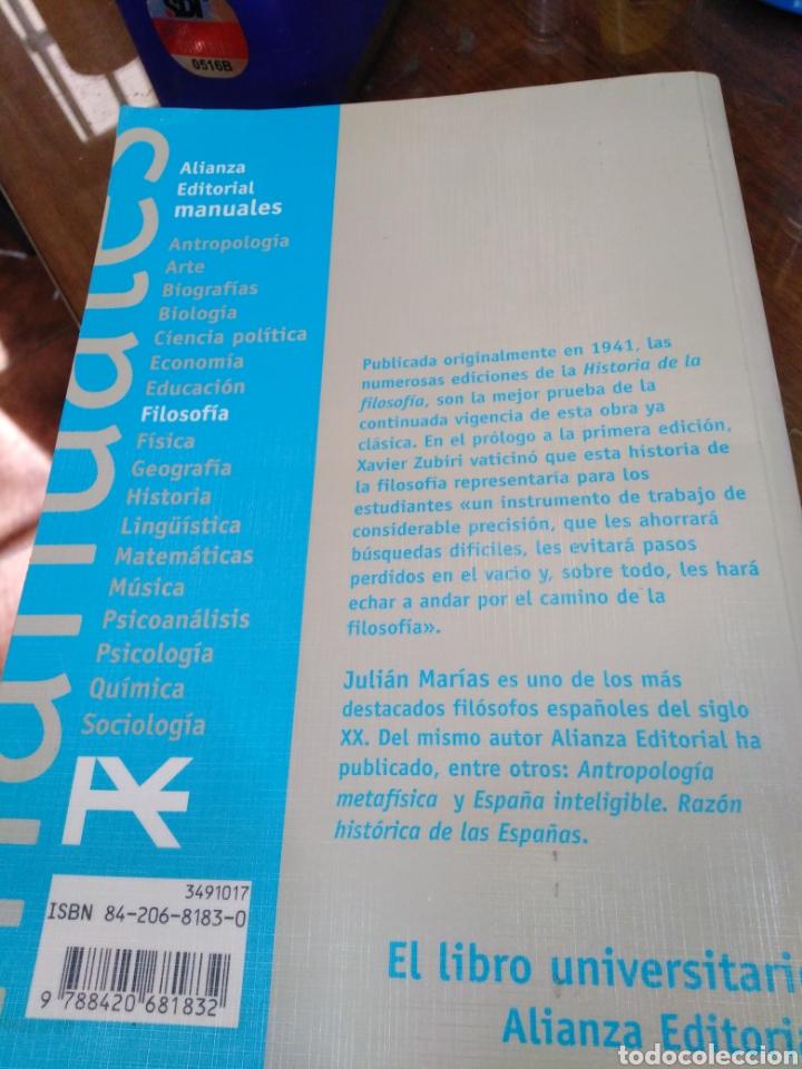 Libros: HISTORIA DE LA FILOSOFÍA-JULIÁN MARIAS,ALIANZA EDITORIAL,ÍNDICE SUBRAYADO,BUEN ESTADO - Foto 3 - 218972060