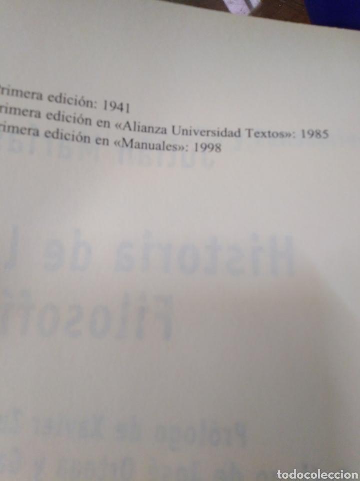 Libros: HISTORIA DE LA FILOSOFÍA-JULIÁN MARIAS,ALIANZA EDITORIAL,ÍNDICE SUBRAYADO,BUEN ESTADO - Foto 6 - 218972060