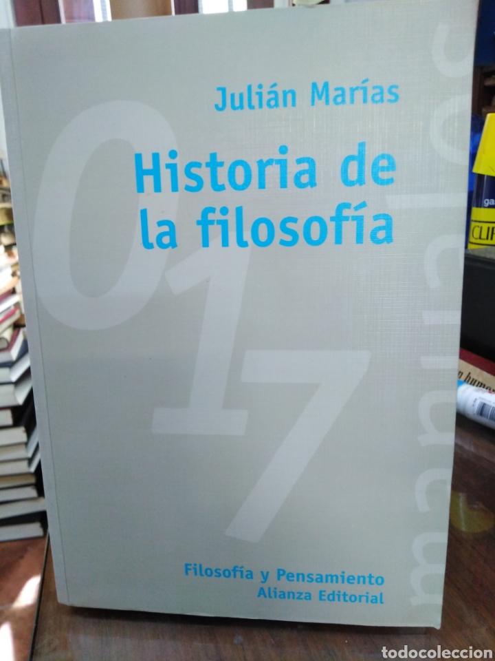 HISTORIA DE LA FILOSOFÍA-JULIÁN MARIAS,ALIANZA EDITORIAL,ÍNDICE SUBRAYADO,BUEN ESTADO (Libros Nuevos - Humanidades - Filosofía)