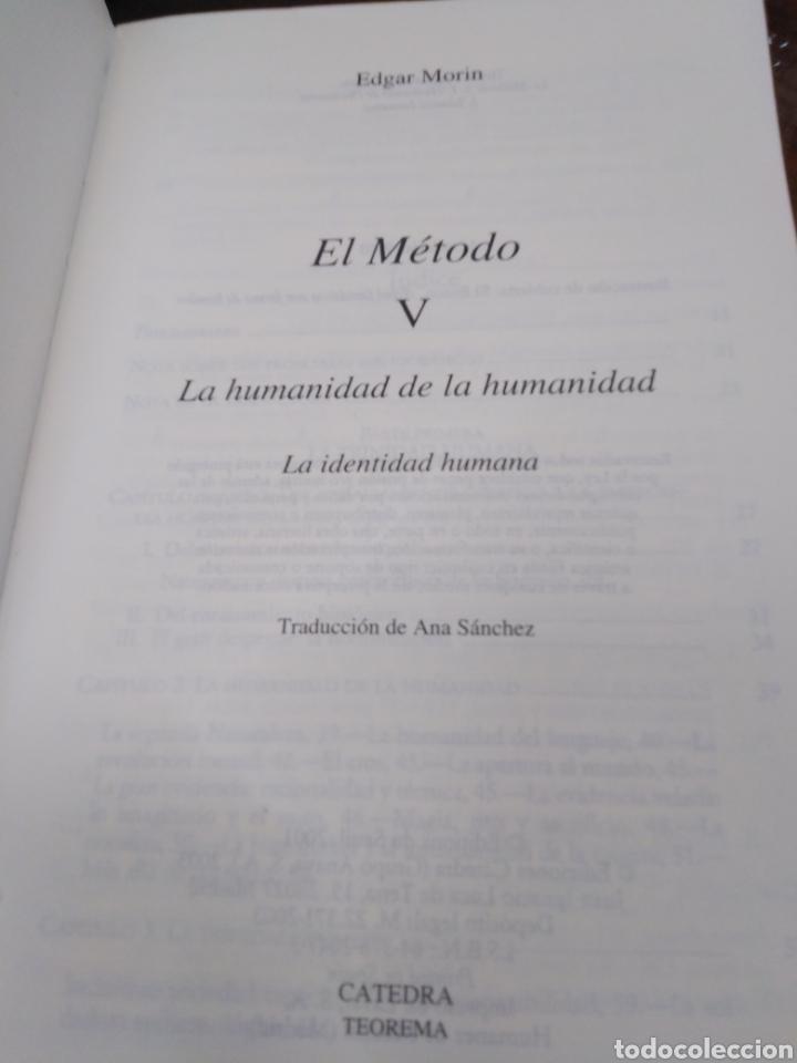 Libros: EL MÉTODO-LA HUMANIDAD DE LA HUMANIDAD-LA IDENTIDAD HUMANA,EDGAR MORIN,EDITA CÁTEDRA,1°EDICION 2003, - Foto 5 - 219042285