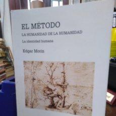 Libros: EL MÉTODO-LA HUMANIDAD DE LA HUMANIDAD-LA IDENTIDAD HUMANA,EDGAR MORIN,EDITA CÁTEDRA,1°EDICION 2003,. Lote 219042285