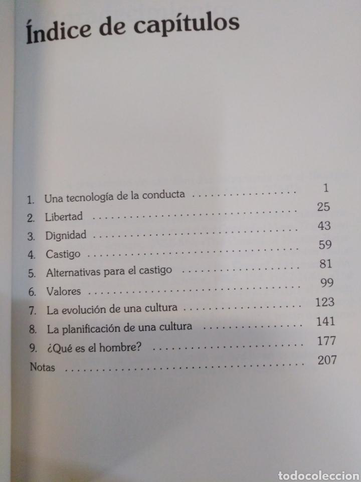 Libros: MÁS ALLÁ DE LA LIBERTAD Y LA DIGNIDA-BURRHUS F.SKINNER-EDITA SALVAT,1972, NUEVO - Foto 6 - 219147391