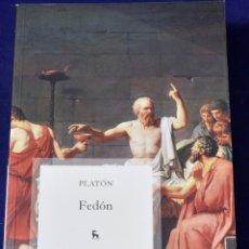 Libros: FEDON: 029 (VARIOS GREDOS) - (428 AC - 347 AC), PLATÓN; GARCIA GUAL, CARLOS. Lote 219437516
