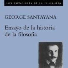 Libros: ENSAYOS DE LA HISTORIA DE LA FILOSOFÍA. Lote 220379105