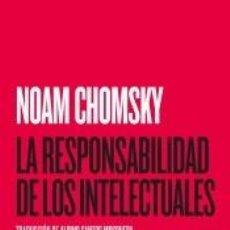 Libros: LA RESPONSABILIDAD DE LOS INTELECTUALES. Lote 220846306
