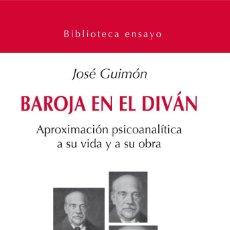 Libros: BAROJA EN EL DIVAN - LIBRO NUEVO. ISBN: 97-884-95427-80-9 Nº PÁGINAS: 198 DIMENSIONES: 13 X 21. Lote 222013093