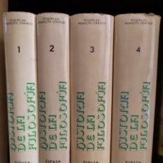 Libros: 4 TOMOS HISTORIA DE LA FILOSOFÍA, ESPASA-CALPE. Lote 222868637