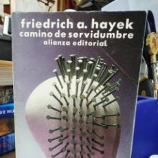 Libri: CAMINO DE SERVIDUMBRE--FRIEDRICH A.HAYEK-ALIANZA 1995,. Lote 254349760