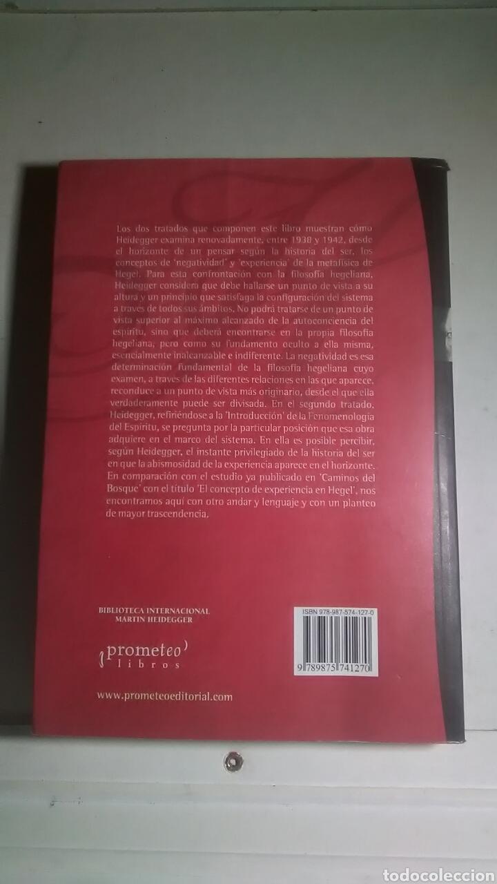 Libros: Heidegger. Hegel. Prometeo libros. 2005. 1a. Edición. Bilingüe. - Foto 2 - 224793732