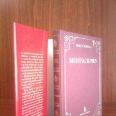 Libros: MARCO AURELIO - MEDITACIONES - BIBLIOTECA CLÁSICA GREDOS Nº 144 - 2017 - NUEVO. Lote 251842780